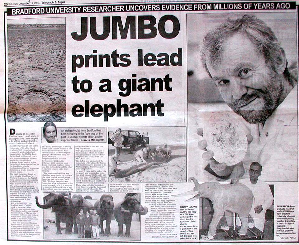 Telegraph and Argus, 13 December 2003