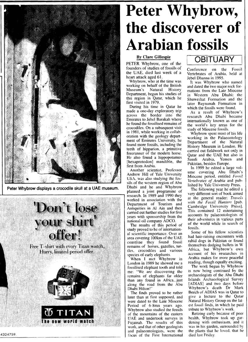 Gulf Times (Qatar), 18 February 2004
