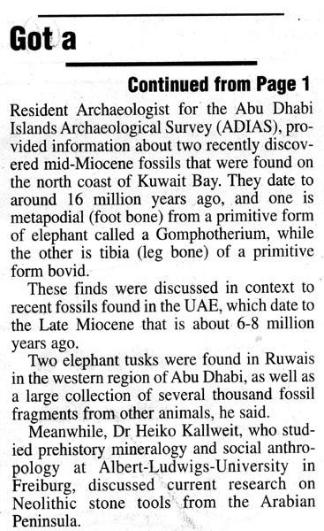 Kuwait Times, 22 April 2004, page 6