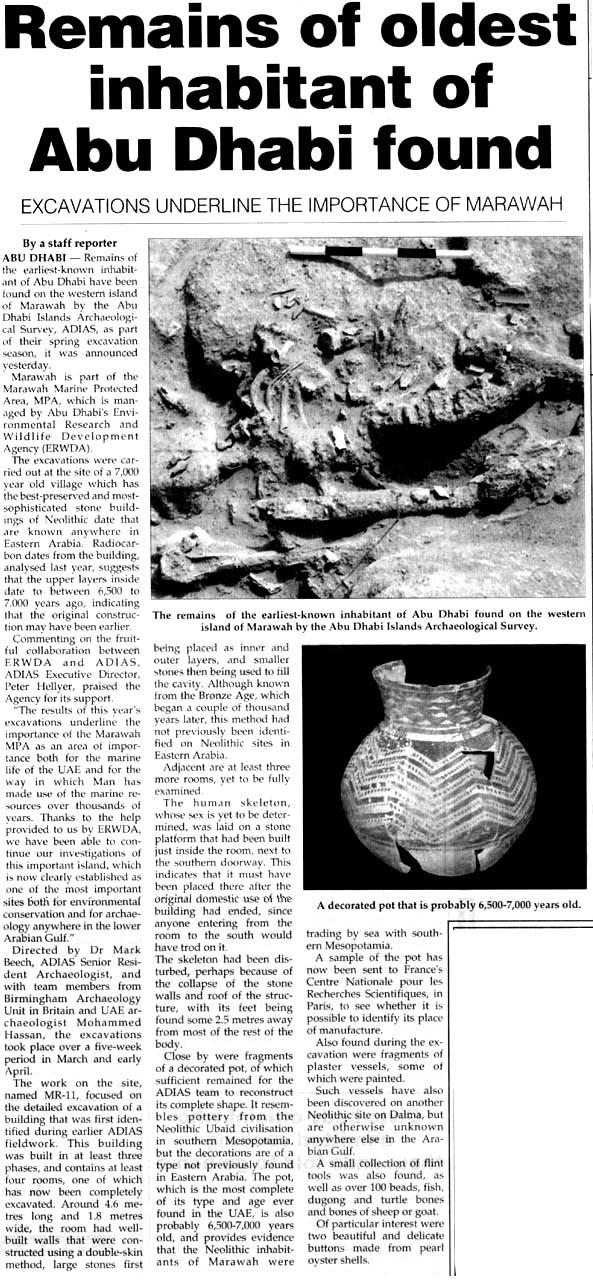 Khaleej Times, 30 June 2004, page 3